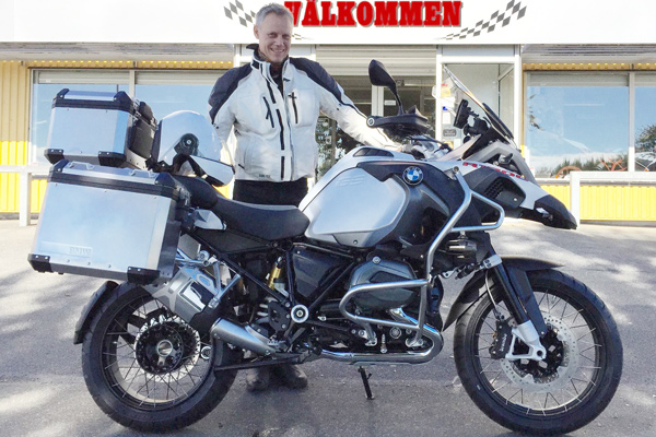 Lasse Brodén sold the 1600GT and got this adventurer - Ready for Ironbutt Copenhagen-Cannes