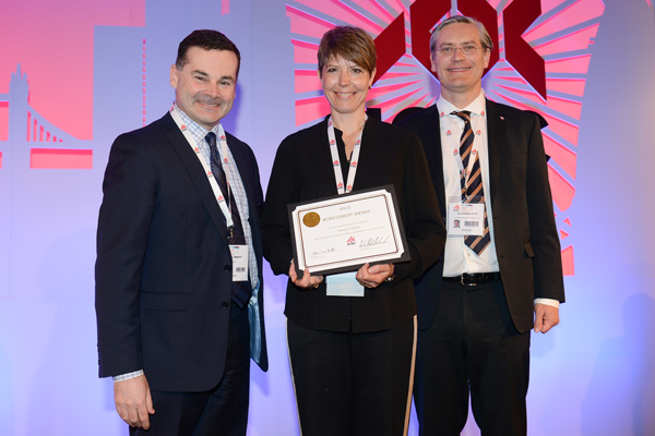 Kathrine Heiberg awarded the ICSC global gold medal in London