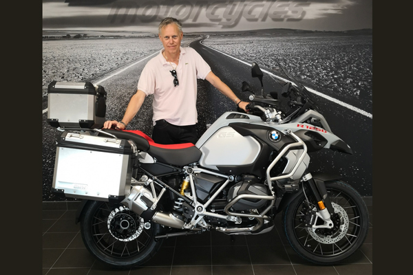 Lasse Brodén sold the 1600GT, then traded the GSA 1200 and got this adventurer - Ready for Iron Butt Copenhagen-Cannes